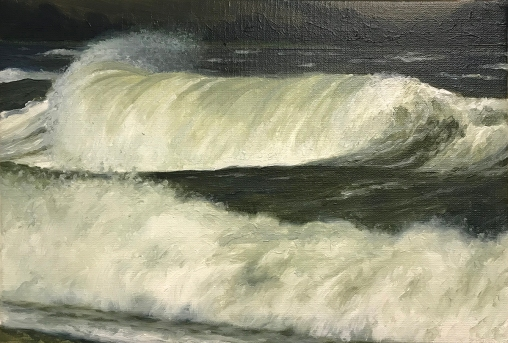 'Green Barrel', 20x30 cm, oil (sold)