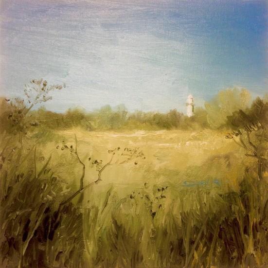 'Fyrtårn', 25x25 cm, oil (sold)