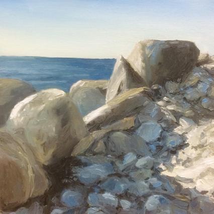 'Limestones', 25x25 cm, oil (sold)
