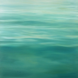 'Turquiose Tranquility', 80x80 cm, oil (sold)
