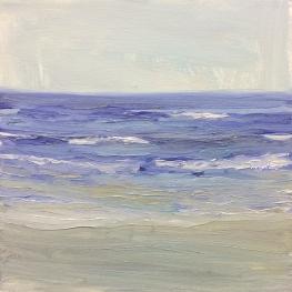 'Wave Study 2', 25x25 cm, oil (sold)
