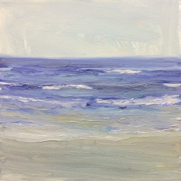 'Wave Study 2', 25x25 cm, oil (sold)