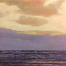 'Late Sunday', 50x50 cm, oil