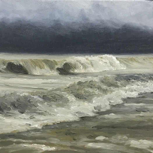 'Approaching' 30x30 cm, oil (sold)