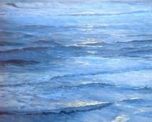 Blue Surge, 80x100, olie
