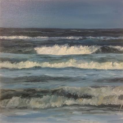 'Cerulean Surf', 30x30 cm, oil (sold)