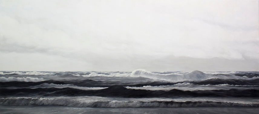 'Clear Sighted When Stormy', 80x180 cm, oil (commission)