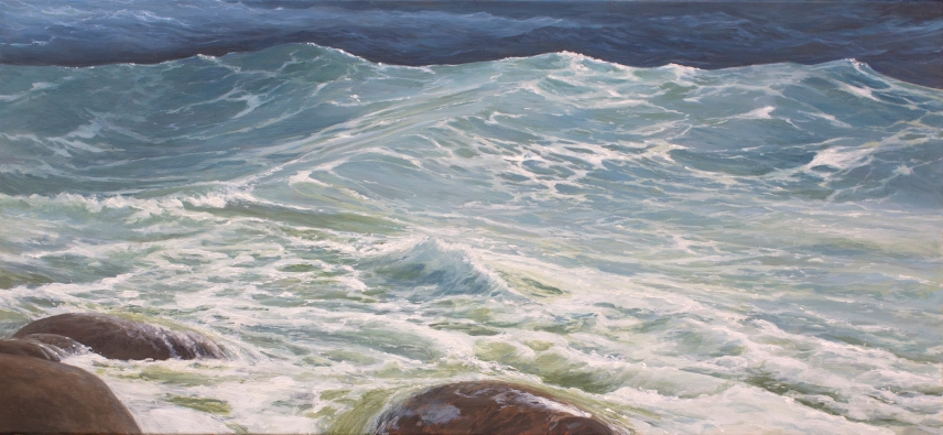 'Courage',60x130 cm, oil (sold)