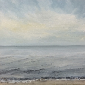 'Escape At Early Dawn', 30x30 cm, oil (sold)
