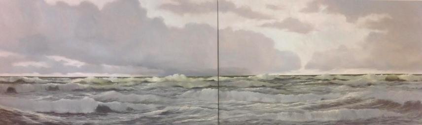 'Eternal Diptychon'120x400, oil