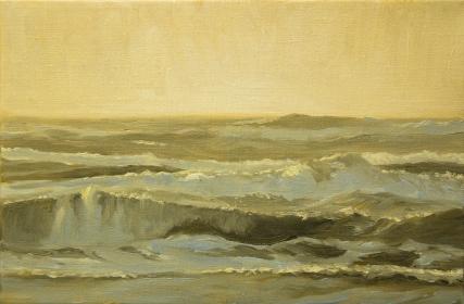 'Evening Light', 20x30 cm, oil (sold)