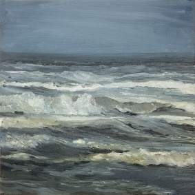 'From One Side Of The Border', 30x30 cm, oil (sold)