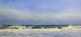 Guardians, 60x130 cm, oil (sold)