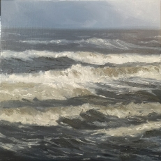 'Ocean Study, 30x30 cm, oil (sold)