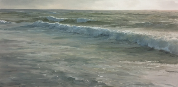 'Icy Cold Christmas', 40x80 cm, oil (sold)