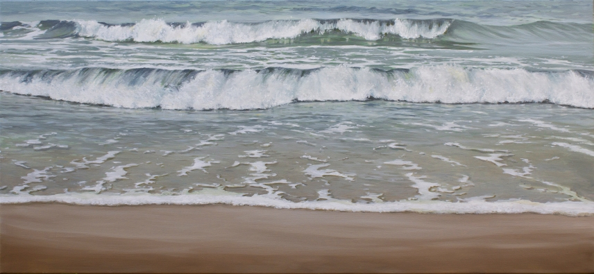 'Inner Beach', 60x130 cm, oil (sold)