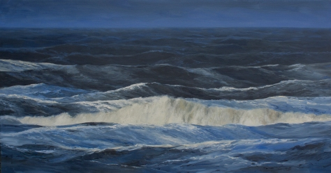 'Into The Blue', 90x170 cm, oil (sold)