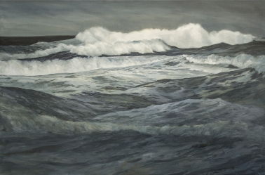 'Into The_Storm', 80x120 cm, oil (sold)