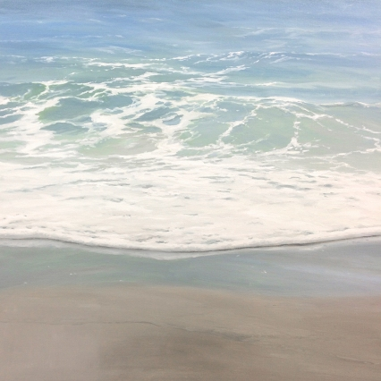 'Option Of Serenity', 80x80 cm, oil (sold)