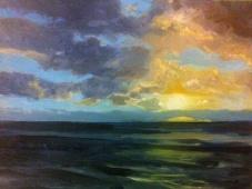 'Rømø Backlit', 25x30 cm, oil (sold)