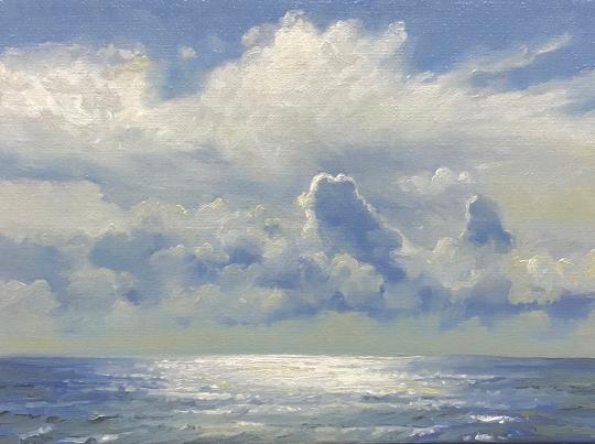 'Sailing', 18x24 cm,oil (sold)