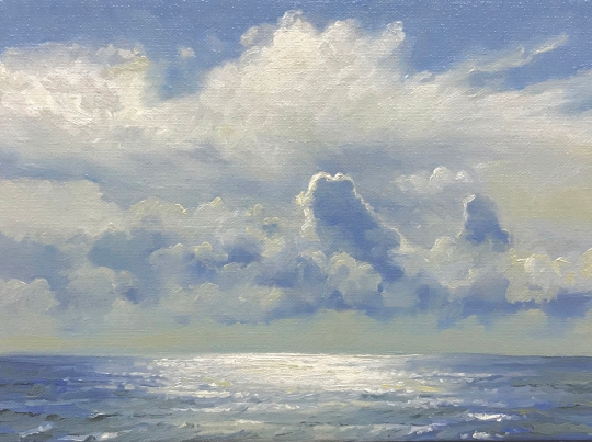 'Sailing', 18x24 cm,oil (sold)