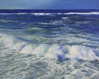 'The Day Descending', 80x100 cm, oil (sold)
