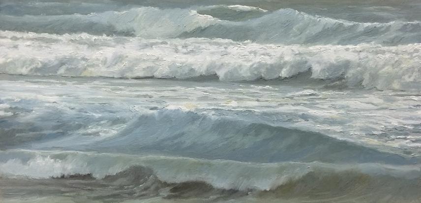 'The Getaway', 25x50 cm, oil (sold)