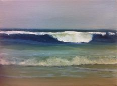 'Wave With No Name' - oil, 15x20