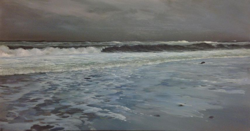 Winter's Storm, 90x170, oil