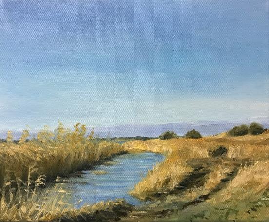 'Creek', 25x30 cm, oil