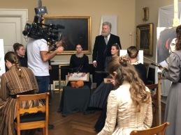 Den Hirschsprungske Samling klædt ud som Vilhelm Kyhns maleskole.